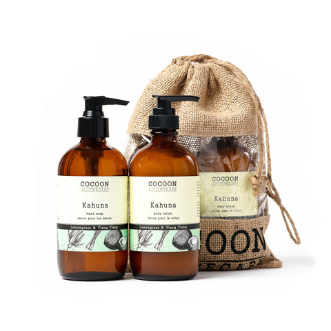Natural lotion and eco-friendly hand soap gift bag