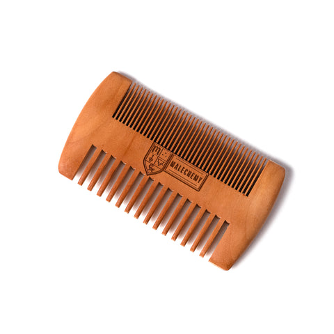 Wooden beard comb for styling