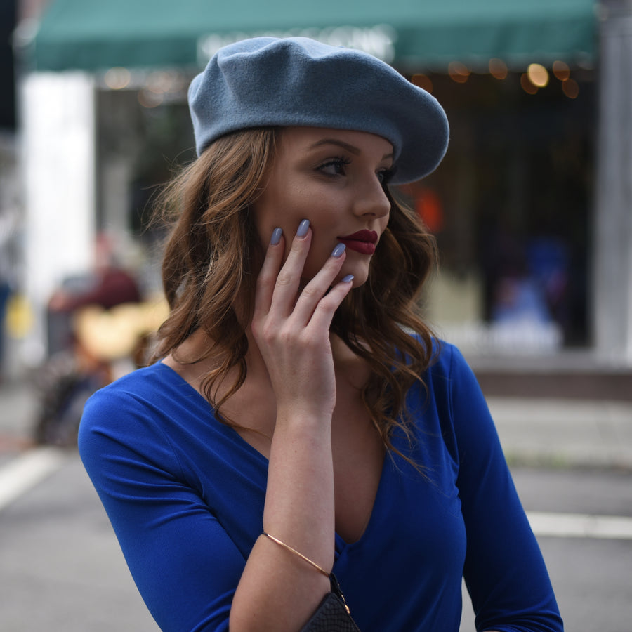 Light Blue French Beret