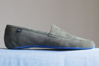 Jungle Grey Lambskin Leather Loafers