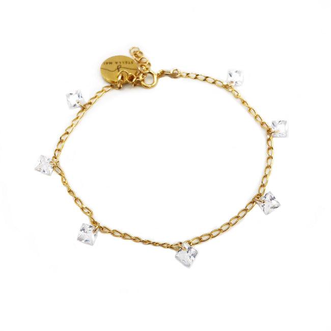 Ashine Gold and Crystal Bracelet