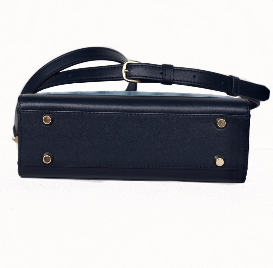 Saint Martin Navy and Sky Blue Bag