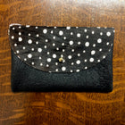 Dots Cowhide and Black Card Holder