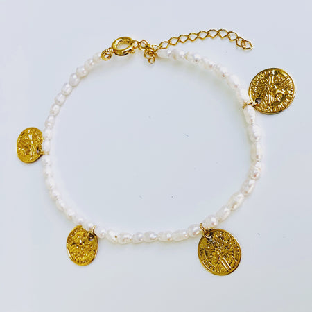 Kate Pearl Gold Bracelet