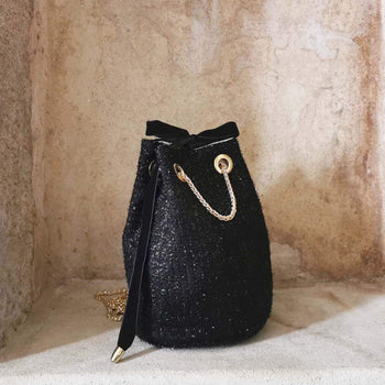 Midnight in Paris Bucket Bag