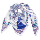 The Enchanted Forest Silk Scarf White