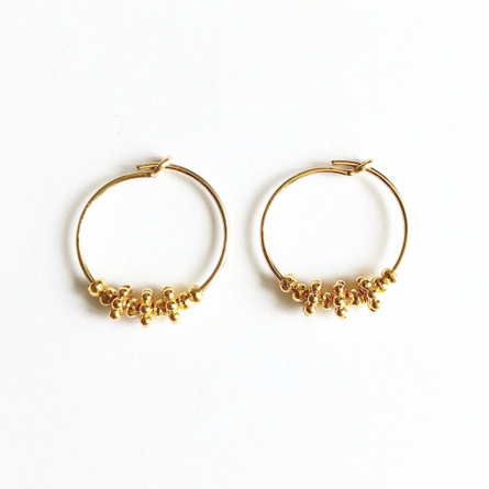 Hera 14 Karat Gold Hoop Earrings