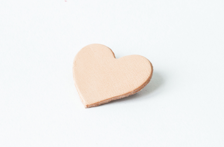 Leather Heart Pin