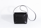 Mia Tanned Leather Black Bag