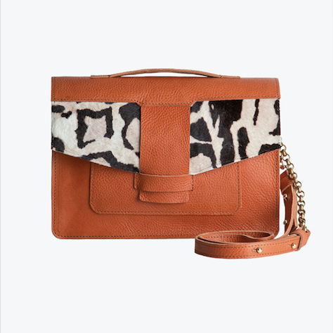 Faro Camel Leather Satchel