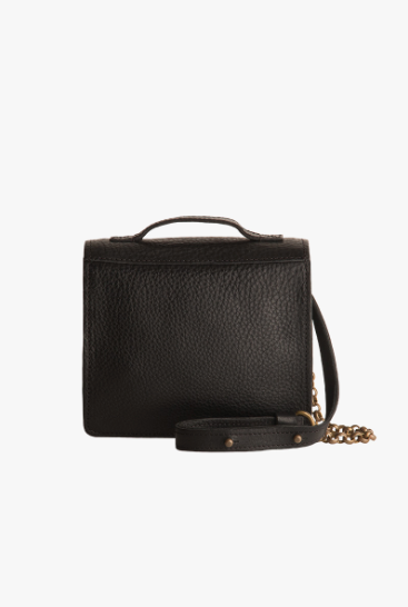 Lagos Black Leather Satchel