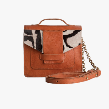 Lagos Camel Leather Satchel