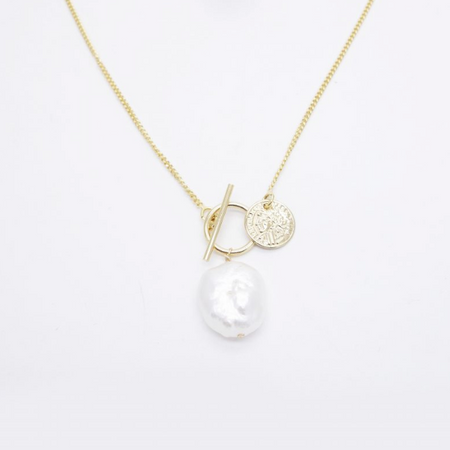Kate Pearl Gold Necklace