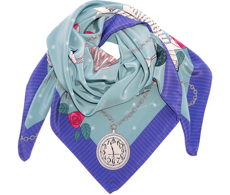 Alice in Wonderland Silk Scarf