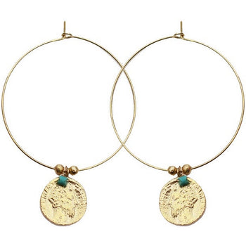 Antic Gold Hoop Earrings