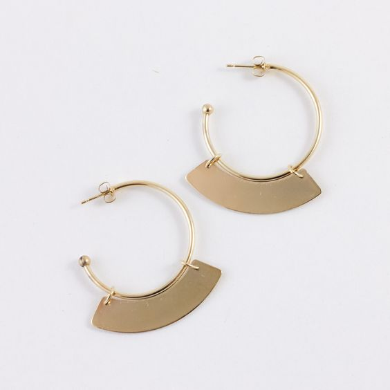 Peace Gold Earrings