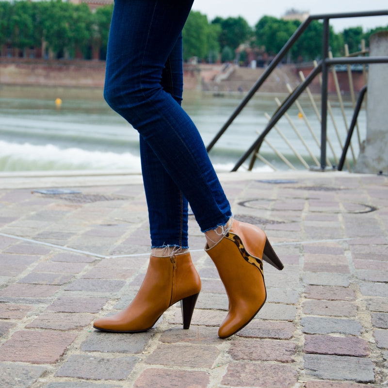 Milan Camel Leather Boots