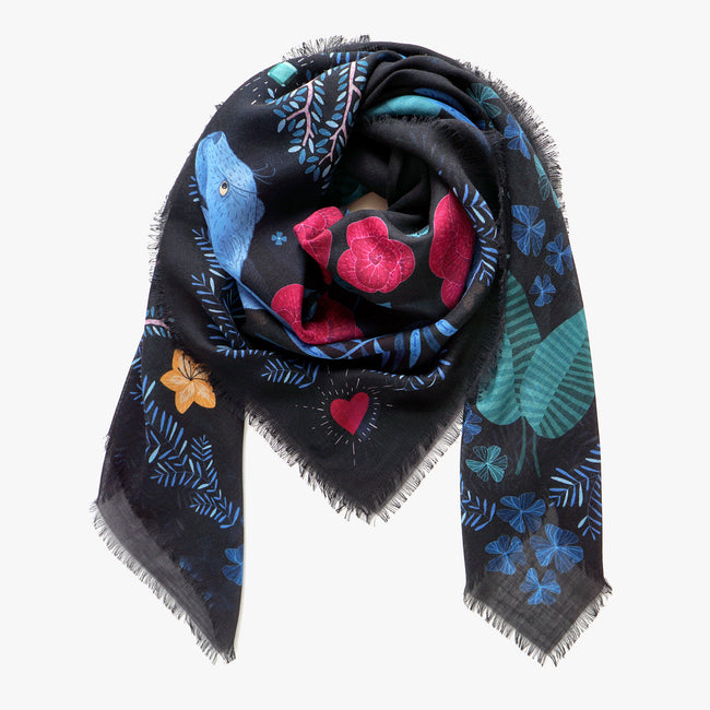 The Panther Silk & Cashmere Scarf