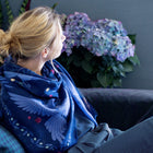 Indigo Night Cashmere & Silk Scarf