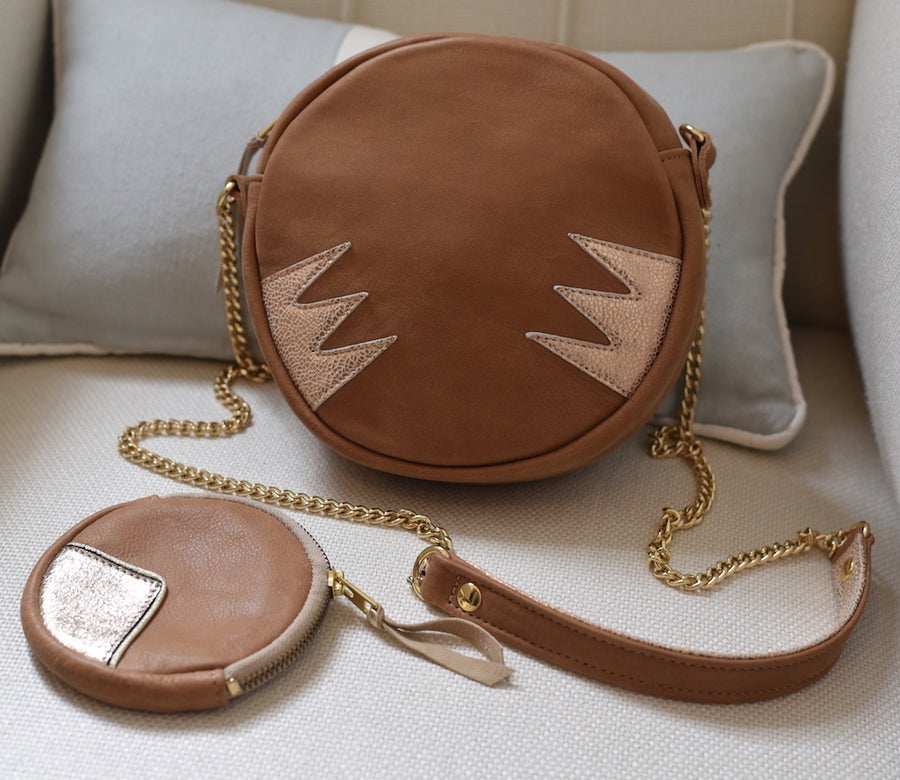 Duo Camel Eclipse Circle Bag + Purse