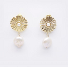 Ester Gold and Pearl Earrings