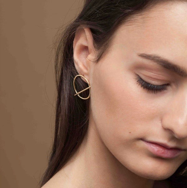 Hope Loop Gold Earrings
