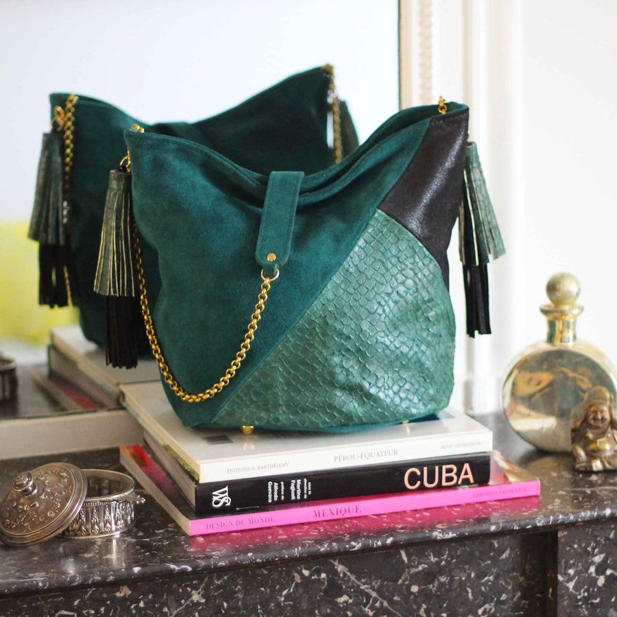 Greta Emerald Bag