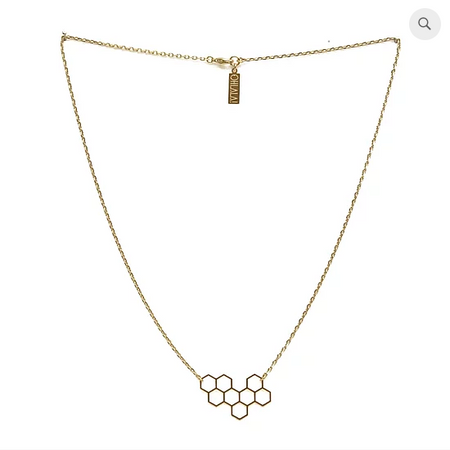 Honeycomb Gold Necklace