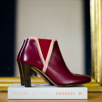 Champs Elysées Red Leather Boots