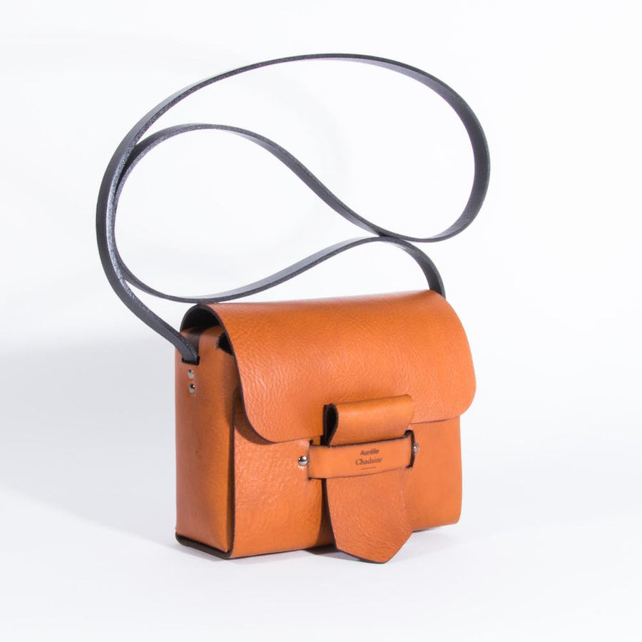 Mia Camel Leather Bag