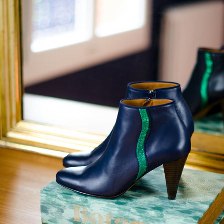 Stunning Navy Leather Boots