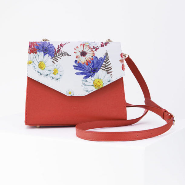Saint Martin Red and Flower Bag