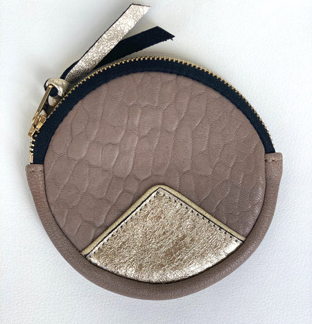 Taupe Circle Purse