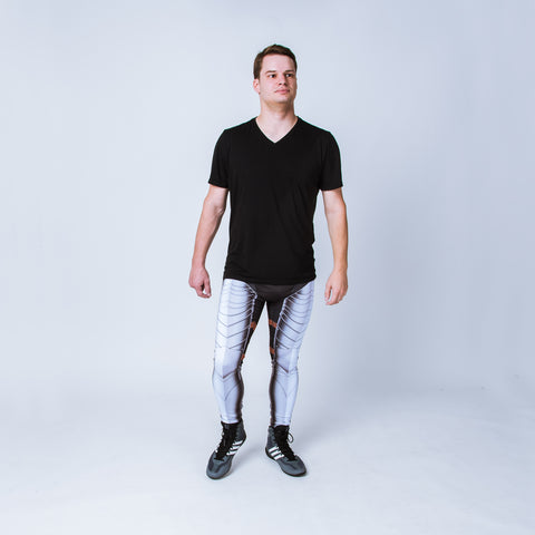 "Printed men's leggings based on German Gothic armor, ""The Augsburg"""