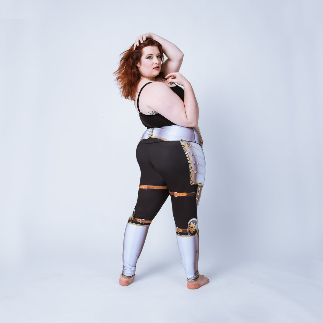 Plus size leggings based on the field garniture of Sir James Scudamore