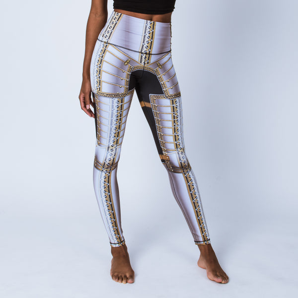 Printed leggings based on the field armor of Sir James Scudamore