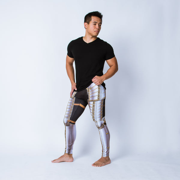 Men's leggings based on the field garniture of Sir James Scudamore