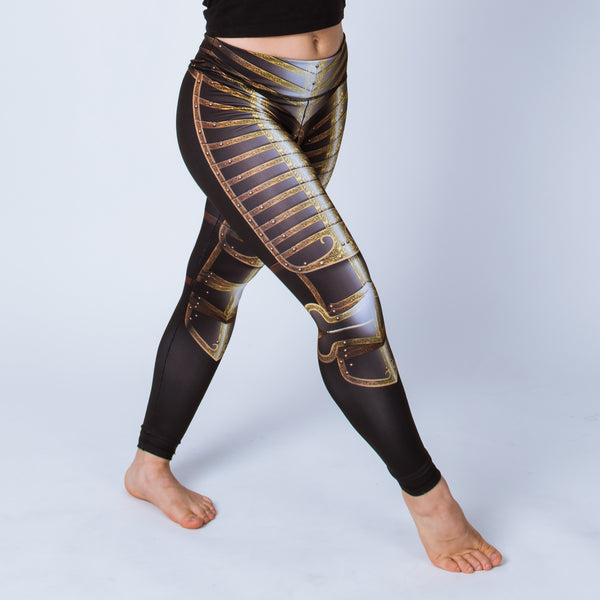 Printed leggings based on the field armor of Henry VIII