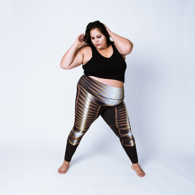 Plus size leggings based on the field armor of Henry VIII