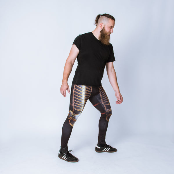 Historical men's leggings based on the field armor of Henry VIII