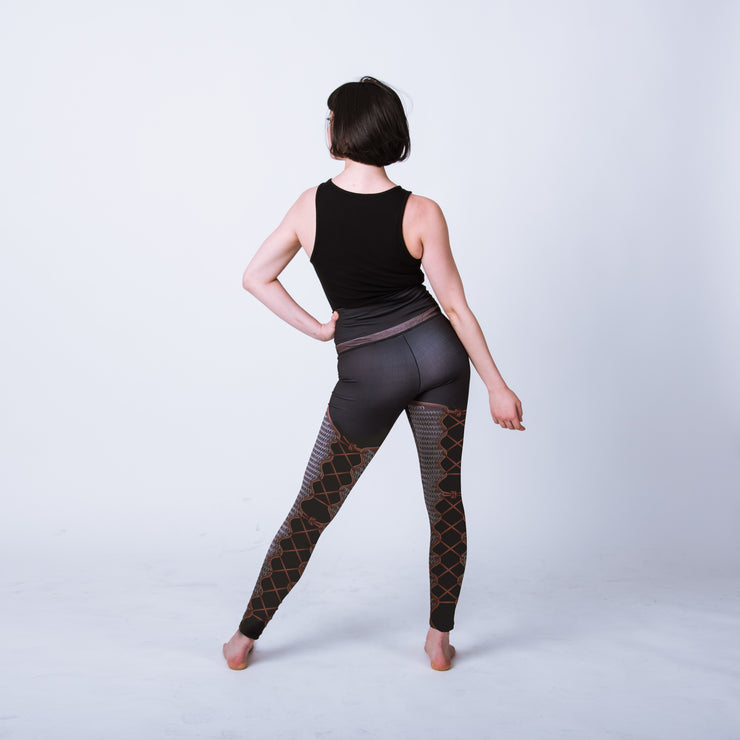Historical chainmail female armor leggings, maille chausses