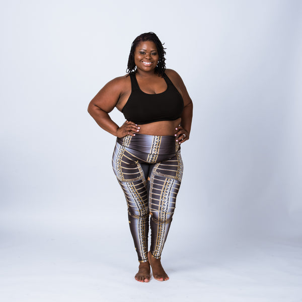 Plus size leggings based on the armor of Lord Brockhurst