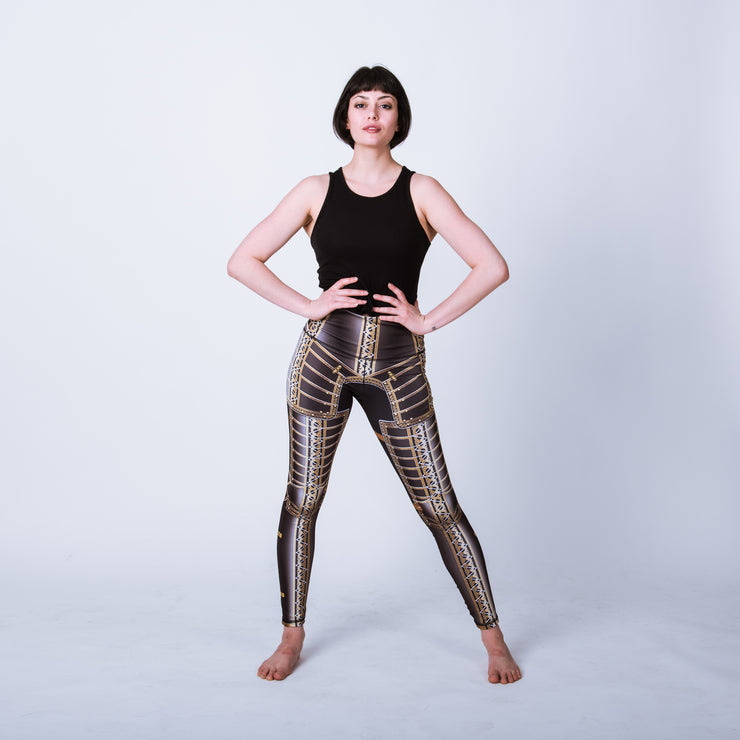 Historical female armor leggings based on the field garniture of Lord Brockhurst
