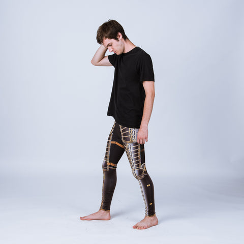 Men's leggings based on the armor of Lord Brockhurst