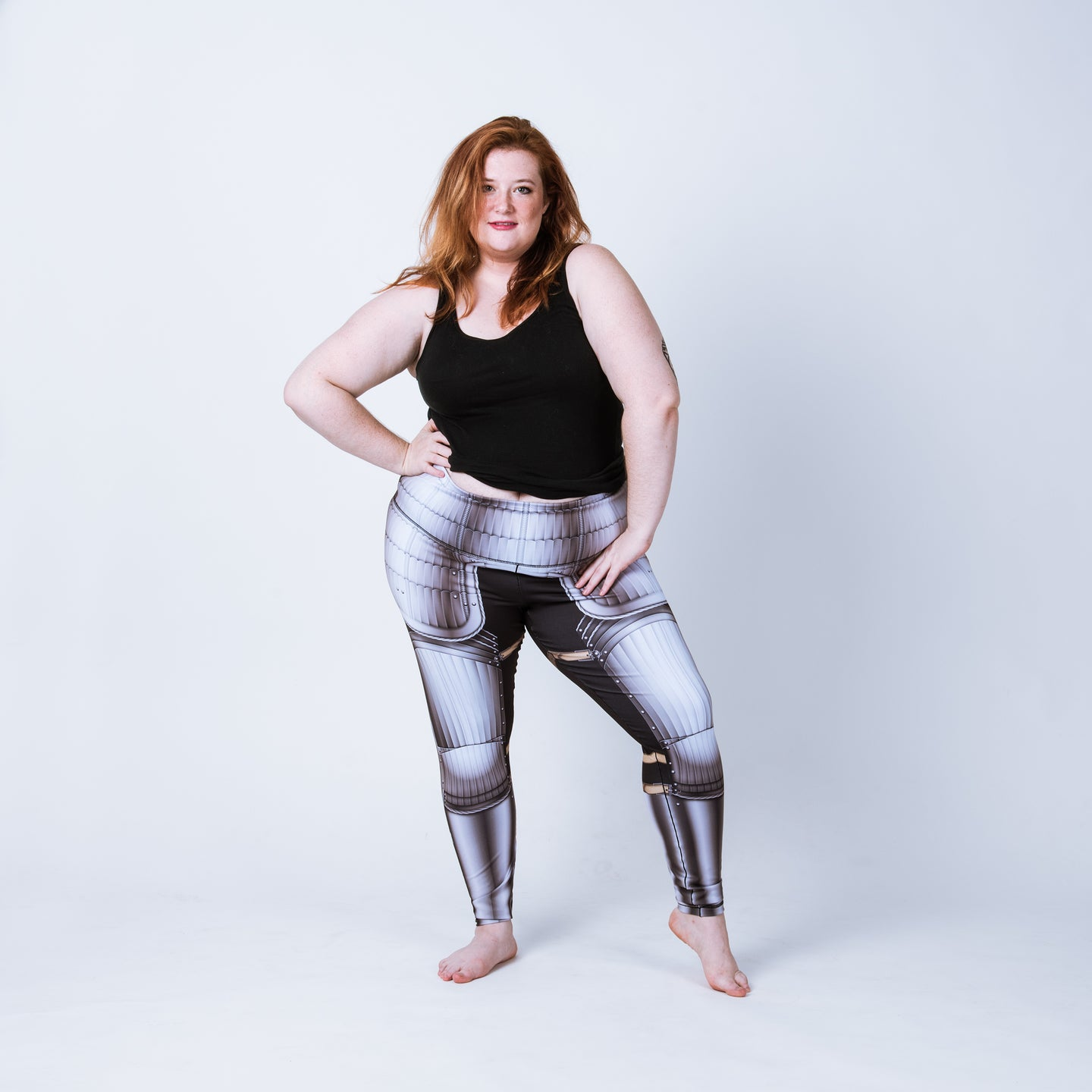 Plus size leggings based on Maximillian armor