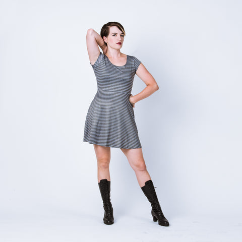 Chainmail skater dress, maille female armor