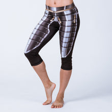 Historical female armor pocket capri leggings based on 16th century infantry armor