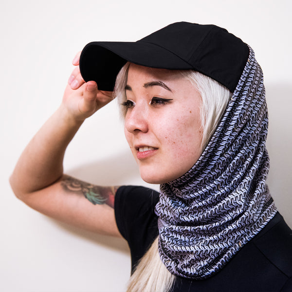 Chainmail printed scarf, neck buff, neck gaiter