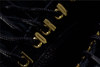 18 KARATS GOLD 3D EYELETS EXCLUSIVELY BY KORTONS - OVO JORDAN XII (BLACK/GOLD)