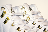 OVO JORDAN XII (White/Gold) - 18 Karats Gold Eyelets Exclusively by KORTONS